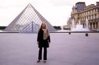 Andrea at Louvre Museum in Paris, France