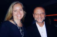 Andrea with Moses Znaimer